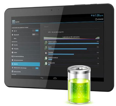 La tableta brinda una autonomía de aproximadamente unas 8 horas