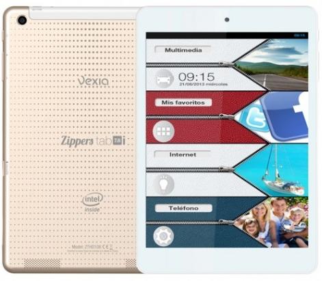 La tableta con una pantalla de 7.8 pulgadas usa Android 4.2.2