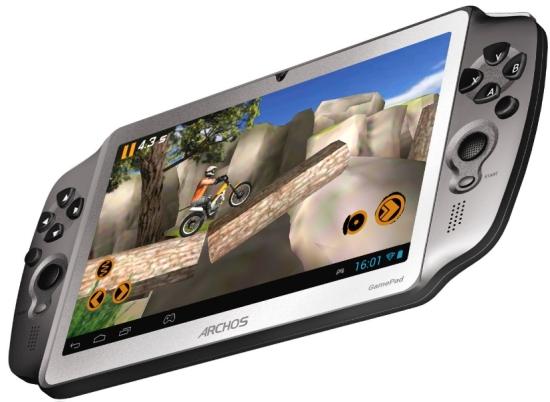 La Archos Gamepad dispone de una pantalla de 7 pulgadas